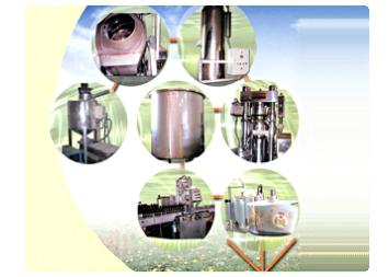 공정별 7개의 생산기계 사진입니다.
